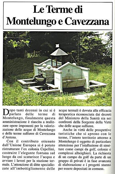 Le terme di Montelungo come le vedeva l'amministrazione nel 1999