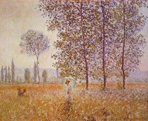 Claude Monet sous les pleupiers