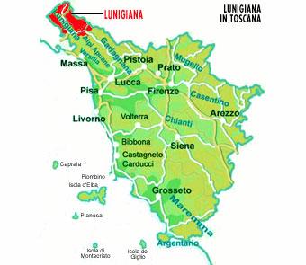 cartina della Lunigiana